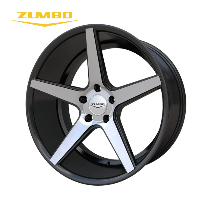 Zumbo-A0015 Black face machined 3SDM rims aluminum alloy wheels momo alloy wheel replica 20""