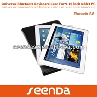 9.7 inch tablet pc leather keyboard case with stand