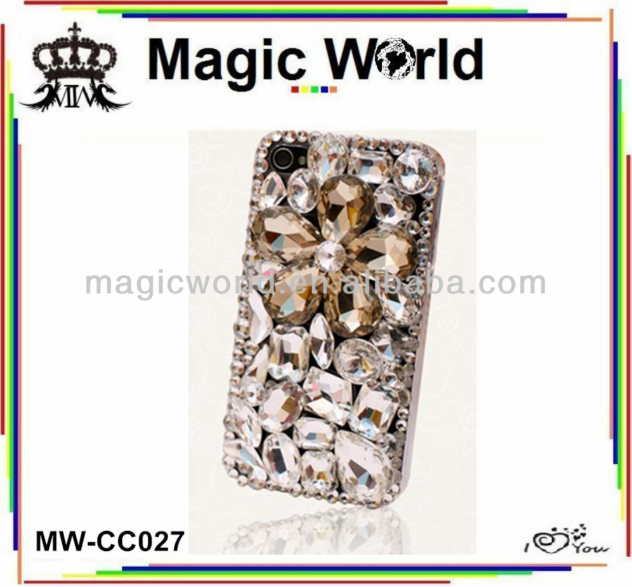 3d rhinestone custom made cellphone case,crystal bling phone case