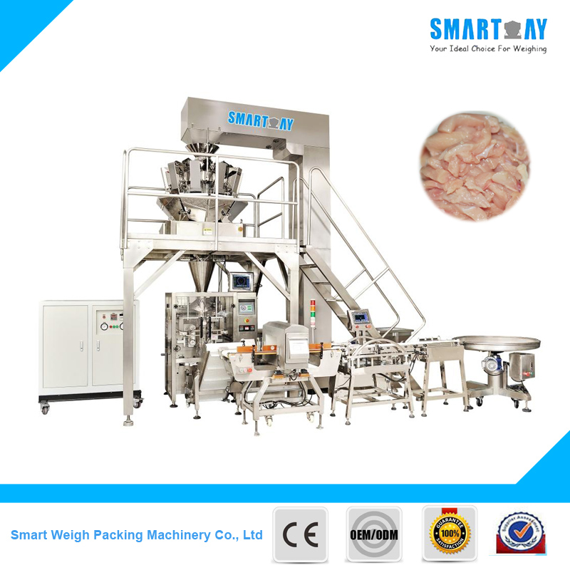 SW-PL1 Automatic Vertical Multihead Weigher Meat Packing Machine