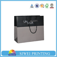 2015 Fancy Custom food grade decorative logo printed ivory cardboard paper bags