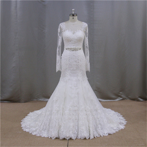factory direct ivory french lace muslim 2011 new model wedding dress