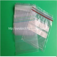 Double zipper clear plastic food storage bag