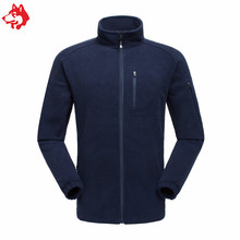 Jungle King Wholesale solid color men warm Waterproof Zipper Jacket winter polyester fleece coat