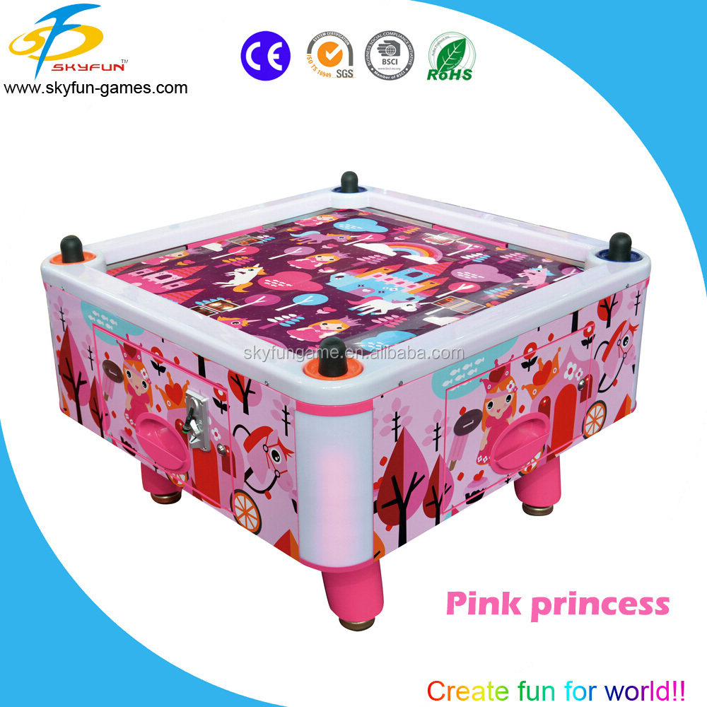 Funny indoor sports 4 person air hockey table for sale,coin operated air hockey table machine for kids play