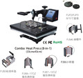 Manufacturer Hot Selling 8 in 1 Combo Heat Press machine, sublimation machine 8 in 1