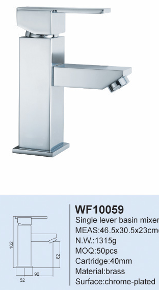 WF10059 CE Listed Single Lever Chrome Plated Brass basin Water tap