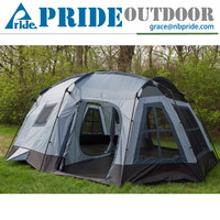 Holiday Outdoor Leisure 3-Season 16 Person Large Luxury Family Camping Cabin Tent