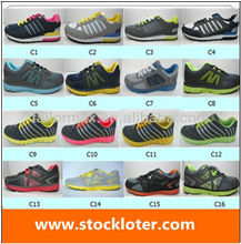 best price PU with mesh sport shoes stocklot 130801-4