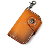 custom key holder genuine leather carf holder with key bag