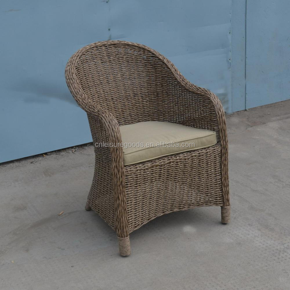 Outdoor wicker rattan dining set for hotel