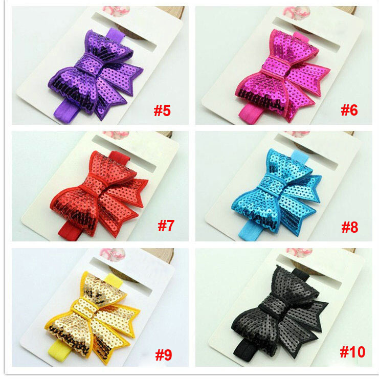 factory directly wholesale cute sequins bow baby headband