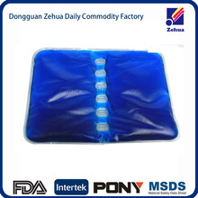 Custom plastic material hot cold therapy gel packs