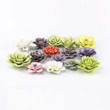 China Factory High Quality Customize Cheap Mini Handmade Glazed Ceramic Flowers Wholesale For Home Decoration