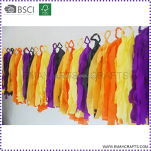 Factory Price Best Quality Crepe Paper Tassel Garland For Celebration