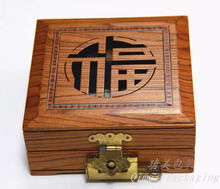 High quality handmade packaging commemorative coin wood box with lock