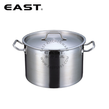 Durable stainless steel cooking pot stock pot with thick bottom