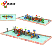 18*7*3.9m Large Toddler Children Plastic Material Outdoor Playground Equipment Sale