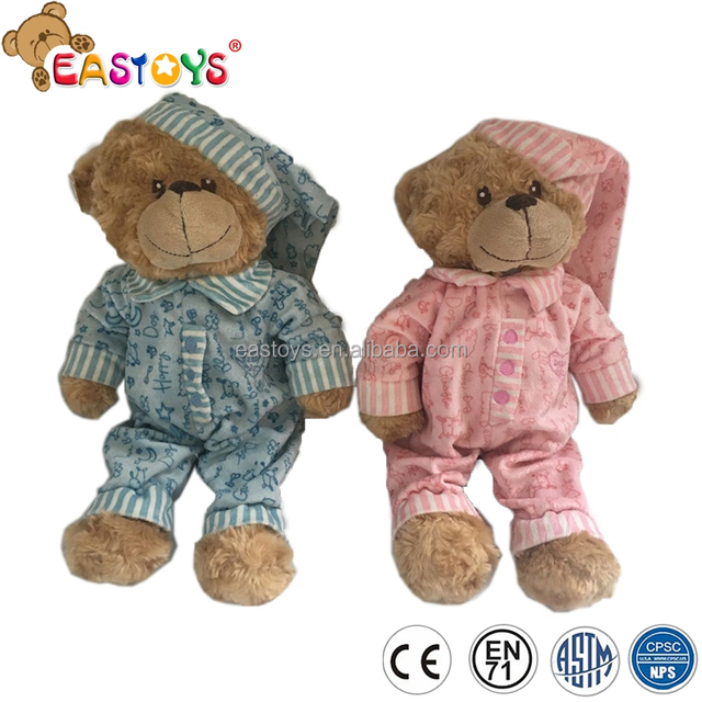 Plush toys teddy bear animal stuffed toys wearing pattern