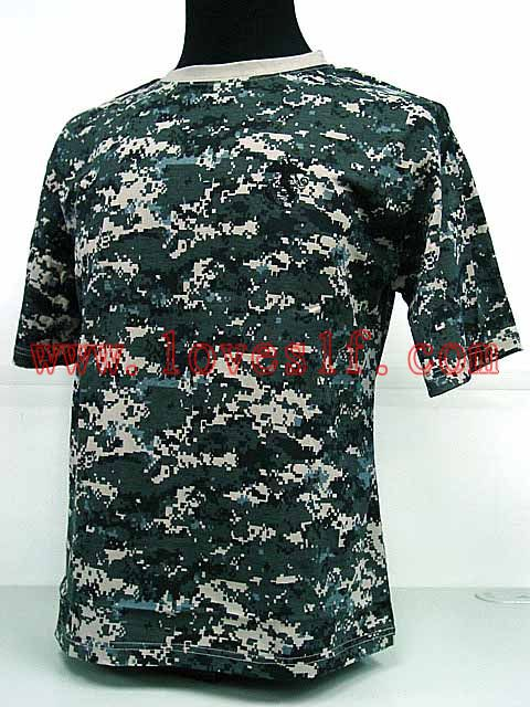 Factory direct sales Sale Army shirt Camouflage shorts military training T shirt design