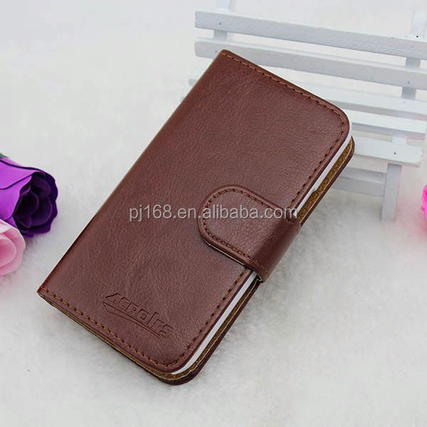 Factory Price Stand Wallet Leather Flip Case For Sony Xperia Acro S LT26W Wholesale