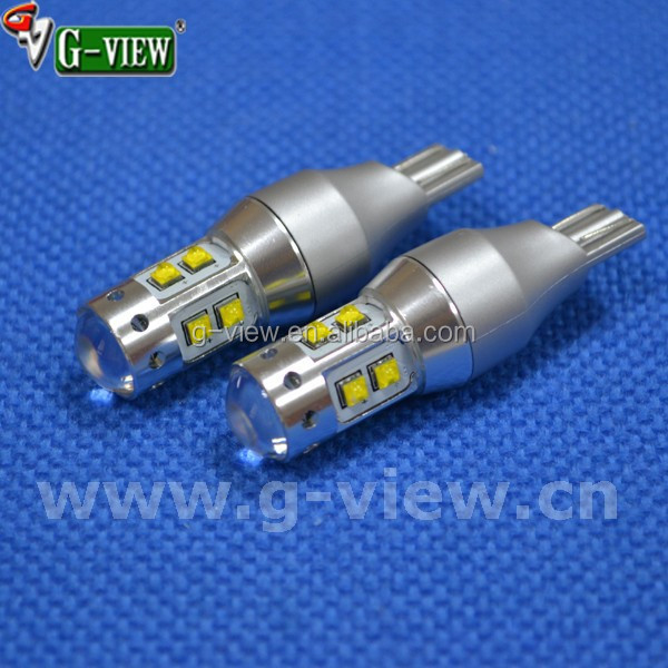high power led auto reversing light t15 50w w16w t16 car bulb packing lamp