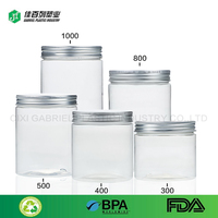 120ml food grade round shape emtpy pet small plastic cosmetic jar
