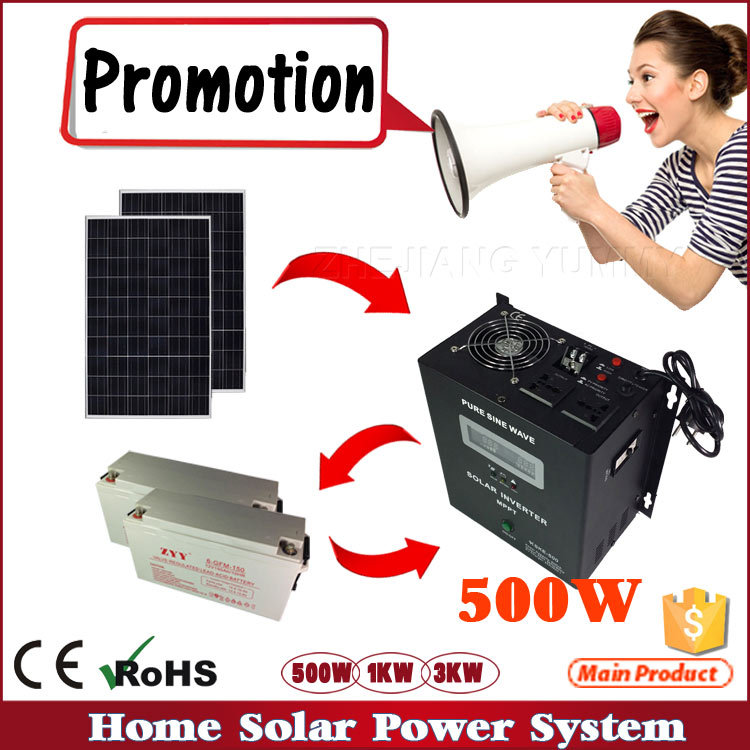 500W 1000W 2000W hybrid solar inverter solar system for home