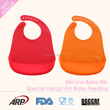 eco-friendly soft washable silicone baby bib