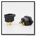 3 Pins Gold Plated Power Wall Socket IEC Socket Power Plugs Conectors