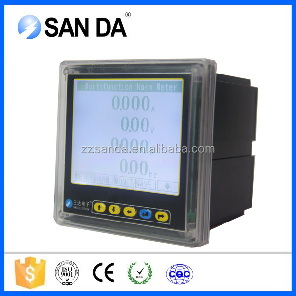 Digital multifunction harmonic wave power meter with AO,DO