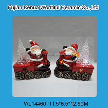 Superior quality ceramic santa claus ornament for led light