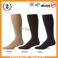 custom 100 cotton dress socks men