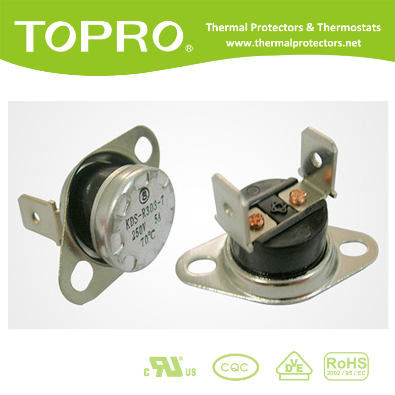 High Temperature Protector 250V Normally Closed Temperature Switch , KSD Thermostat With CQC