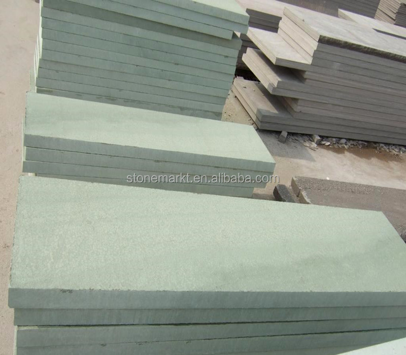 China Green Sandstone Paving Tiles, Floor Covering Tiles