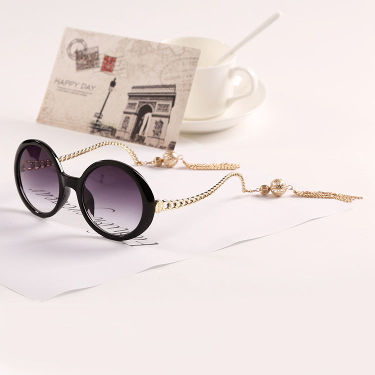 Tassels Decorative Sunglasses 2015 Vintage Retro Fashion Women Designer Sun Glasses J128 Female Famous Vogue Girl Frame Pr