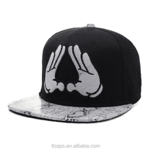 New fashion embroidery logo design your own snapback cap