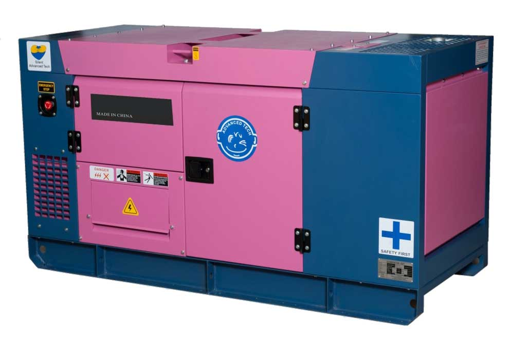 Silent 15KW 18.7KVA Diesel Generator with AC Single or Three Phase Output