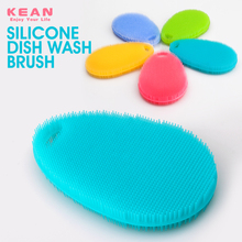 Wholesale custom colorful easy clean bpa free rubber silicone pot scrubber