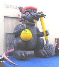 Inflatable rat with money bag, Inflatable Replica, Advertising Inflatables from audiinflatables