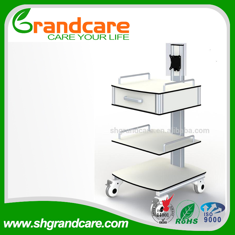 Medical Treatment Trolley Small Equipment Cart For EKG Machine