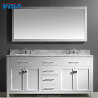 2017 Popular solid wooden mirror cabinet new arrival bathroom furniture