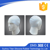Transparent silicone swimming cap