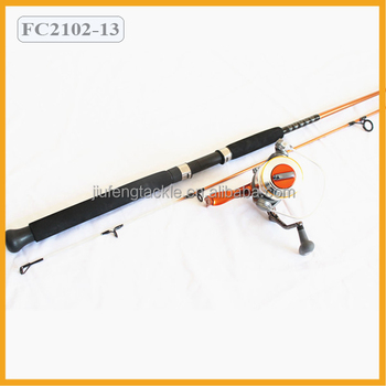Fiber Glass Spinning Rod Fishing Rod Combo