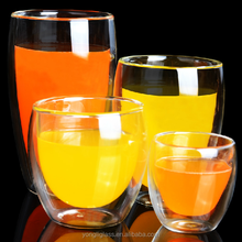 Wholesale cheap drinking glass ,double sided drinking glass,double wall glass