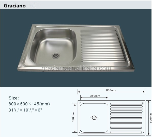 JNS828 Wholesale Portable Camping Bathroom Stainless Steel Kitchen Hand Wash Sink With Drainboard