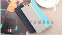 Book Style PU Leather Case Pouch Wallet Phone Cover for ZTE Grand X V970
