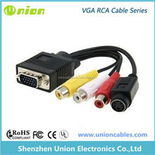 Hot Sell,High Quality Cable, Vga Rca Male To Femal 15 Pin Cable