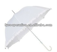 Lilly White Wedding Umbrella.lady umbrella