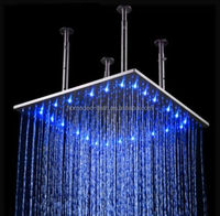 led color changing rainfall square shower head 20 inch